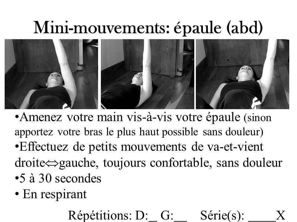Mini-mouvements: épaule (abd)