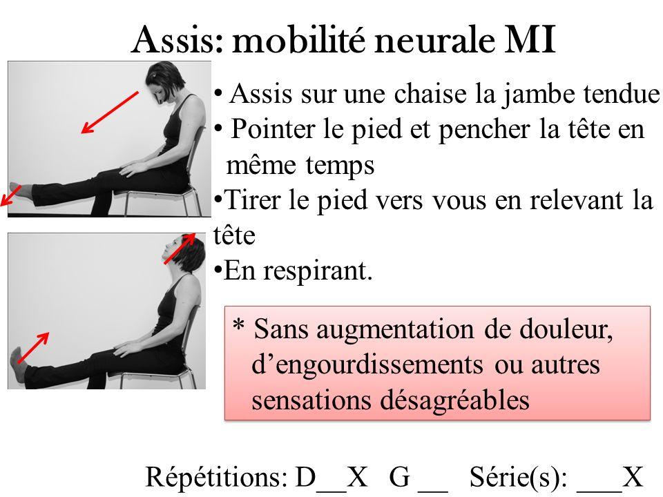 Assis: mobilité neurale MI