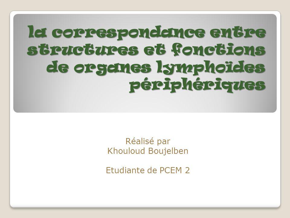 Réalisé par Khouloud Boujelben Etudiante de PCEM 2