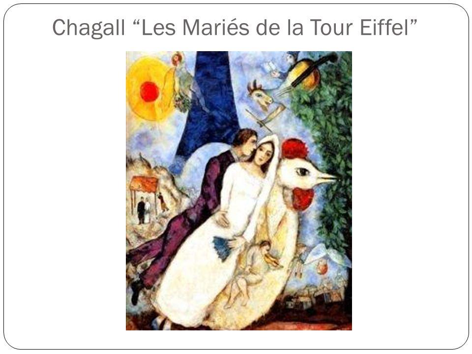 Chagall Les Mariés de la Tour Eiffel
