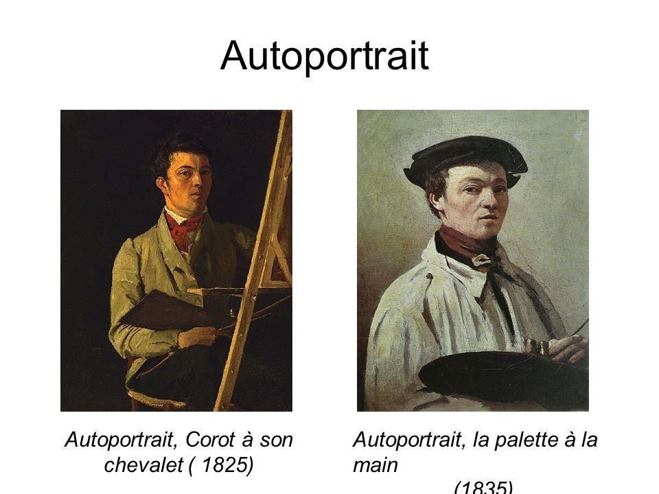 Autoportrait, Corot à son chevalet ( 1825)