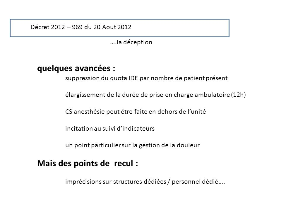 Mais des points de recul :