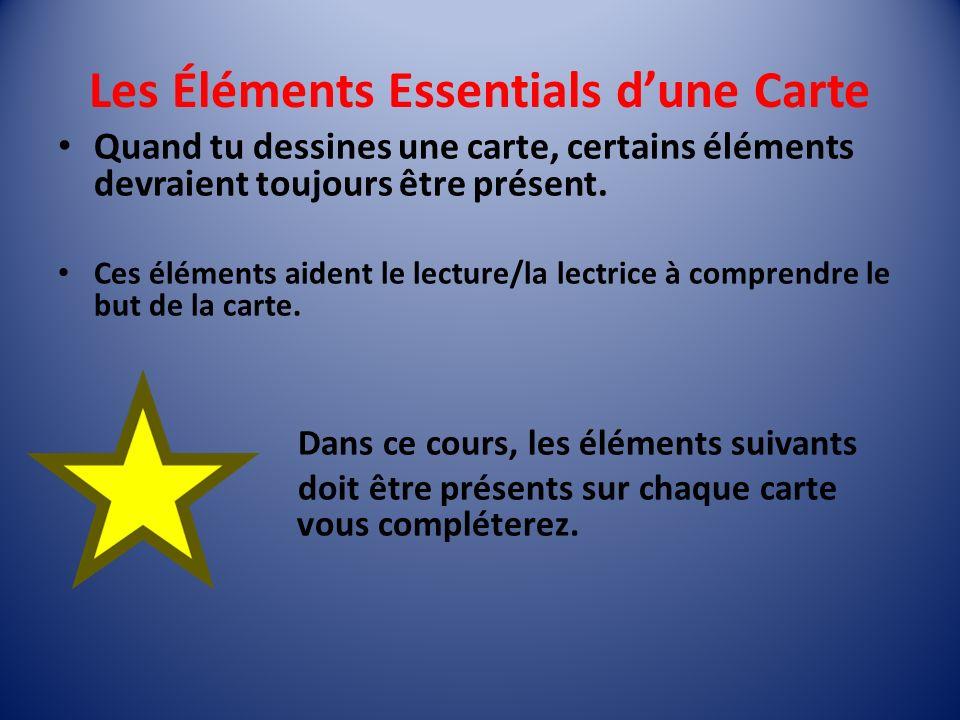 Les Éléments Essentials d'une Carte