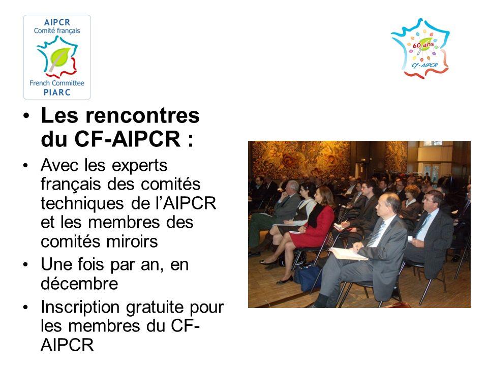 Les rencontres du CF-AIPCR :