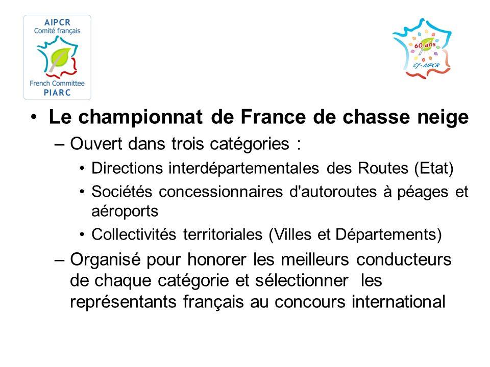 Le championnat de France de chasse neige