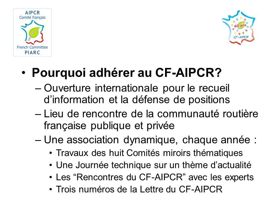 Pourquoi adhérer au CF-AIPCR