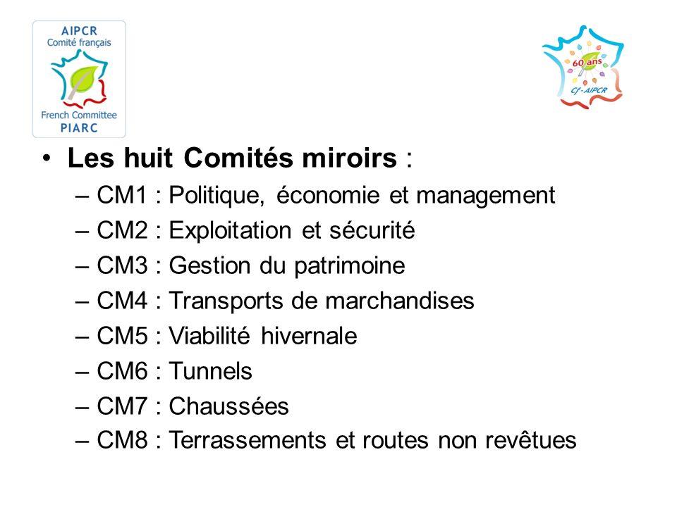 Les huit Comités miroirs :