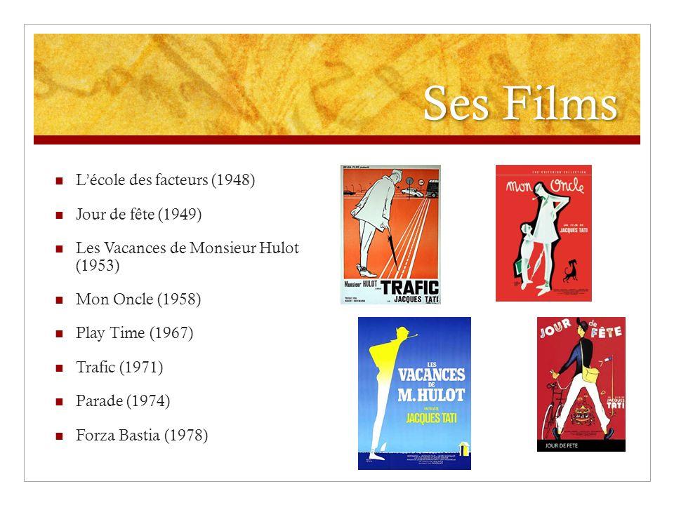 Ses Films L'école des facteurs (1948) Jour de fête (1949)