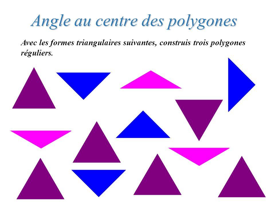 Angle au centre des polygones