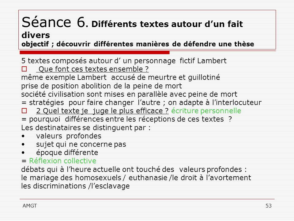 Séance 6. Différents textes autour d'un fait divers objectif ; découvrir différentes manières de défendre une thèse