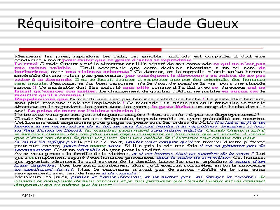 Réquisitoire contre Claude Gueux