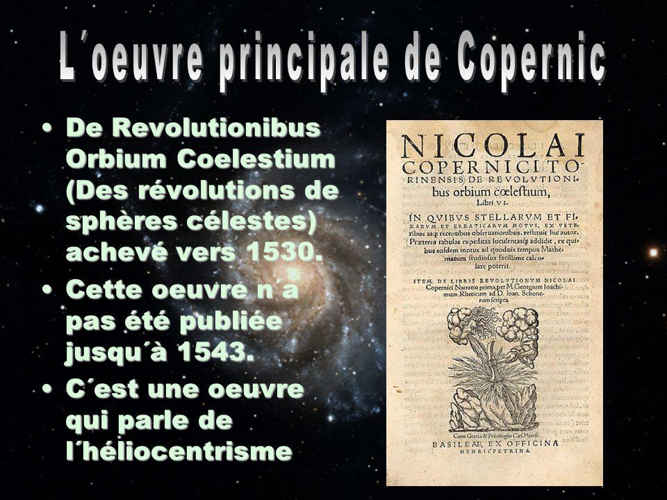 L´oeuvre principale de Copernic