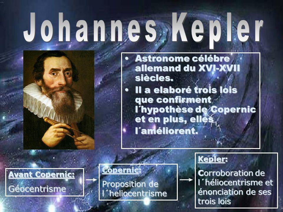 Johannes Kepler Astronome célébre allemand du XVI-XVII siècles.