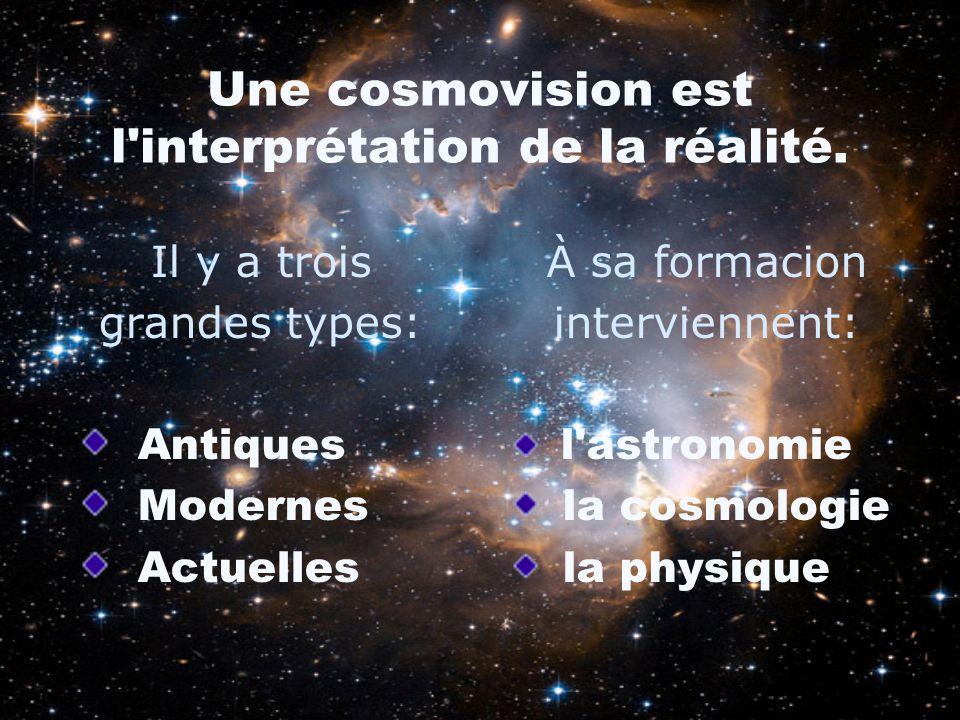 Une cosmovision est l interprétation de la réalité.