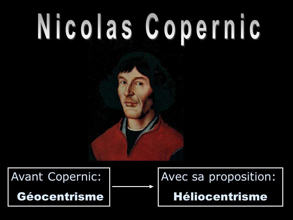 Nicolas Copernic Avant Copernic: Géocentrisme Avec sa proposition: