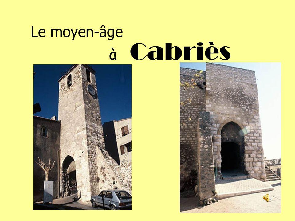 Le moyen-âge Cabriès à