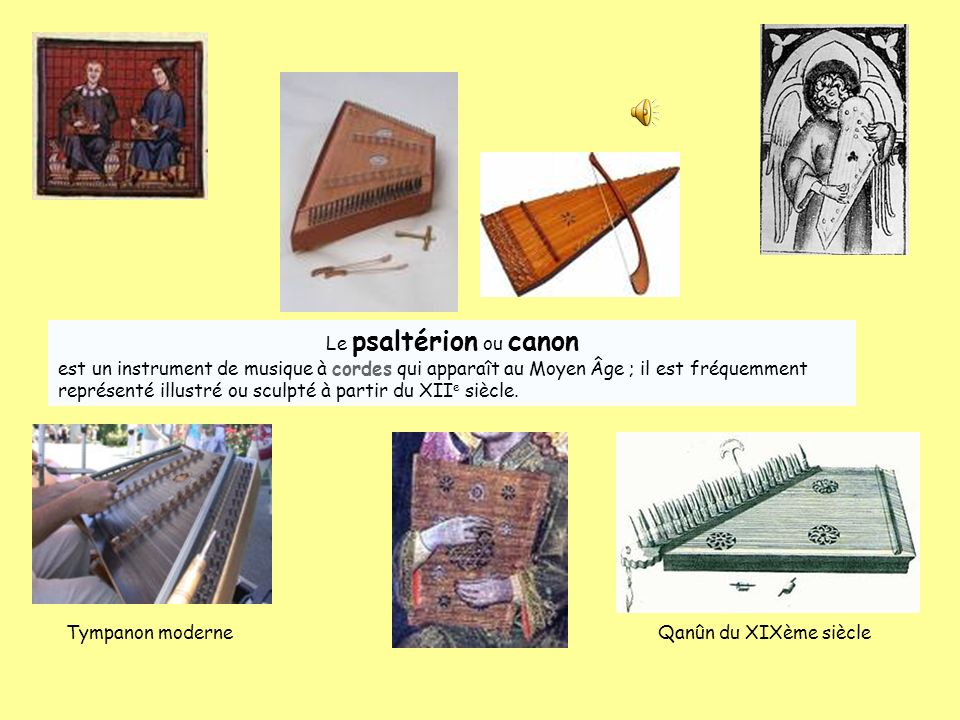 Le psaltérion ou canon