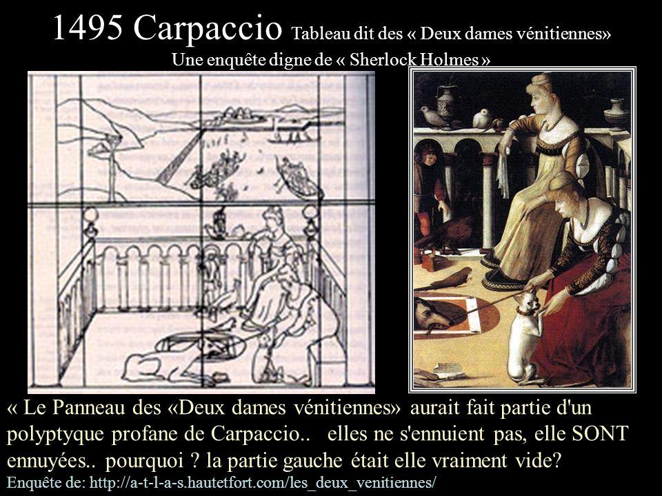 1495 Carpaccio Tableau dit des « Deux dames vénitiennes»