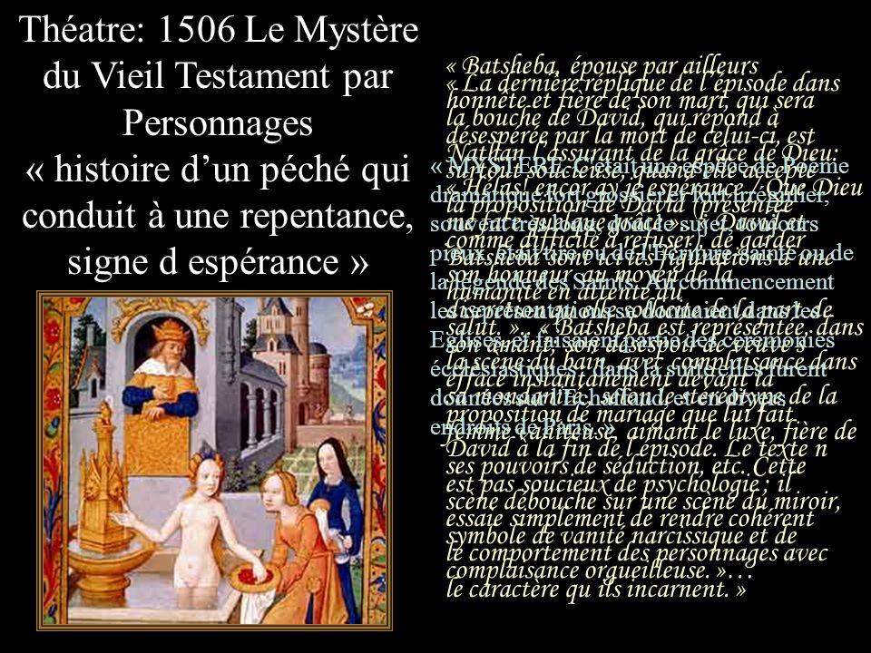 Théatre: 1506 Le Mystère du Vieil Testament par Personnages