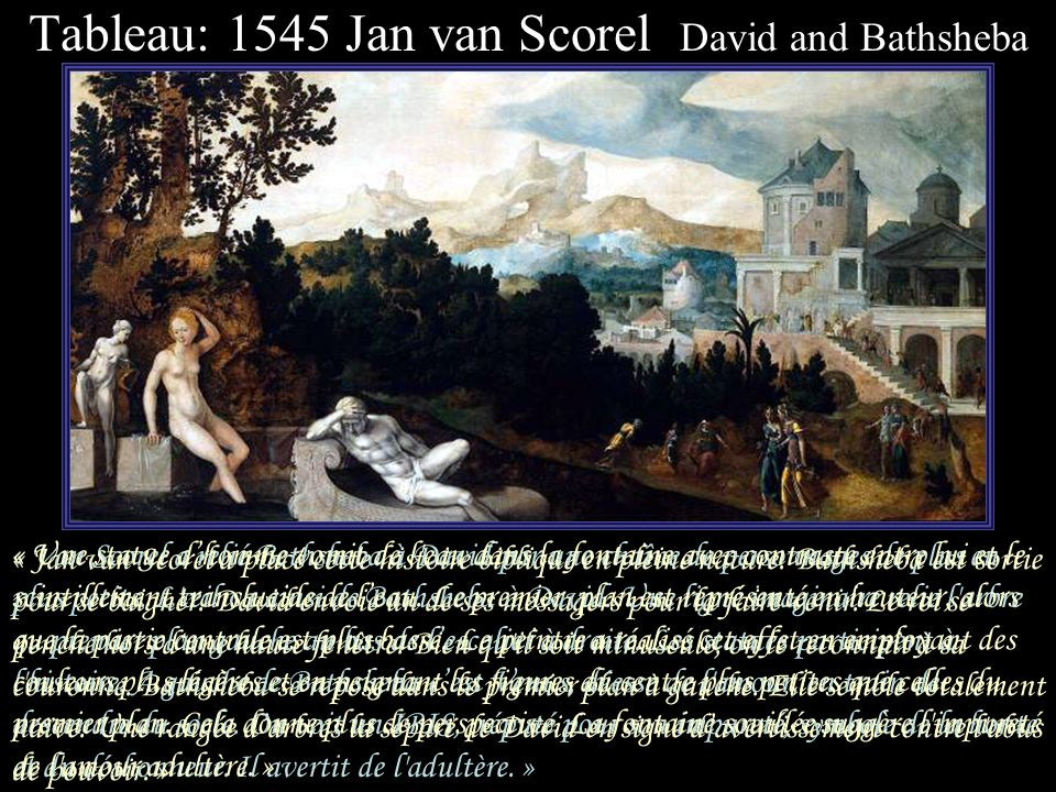 Tableau: 1545 Jan van Scorel David and Bathsheba
