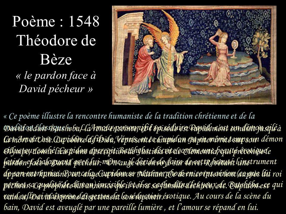 Poème : 1548 Théodore de Bèze