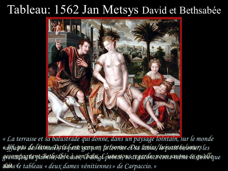 Tableau: 1562 Jan Metsys David et Bethsabée