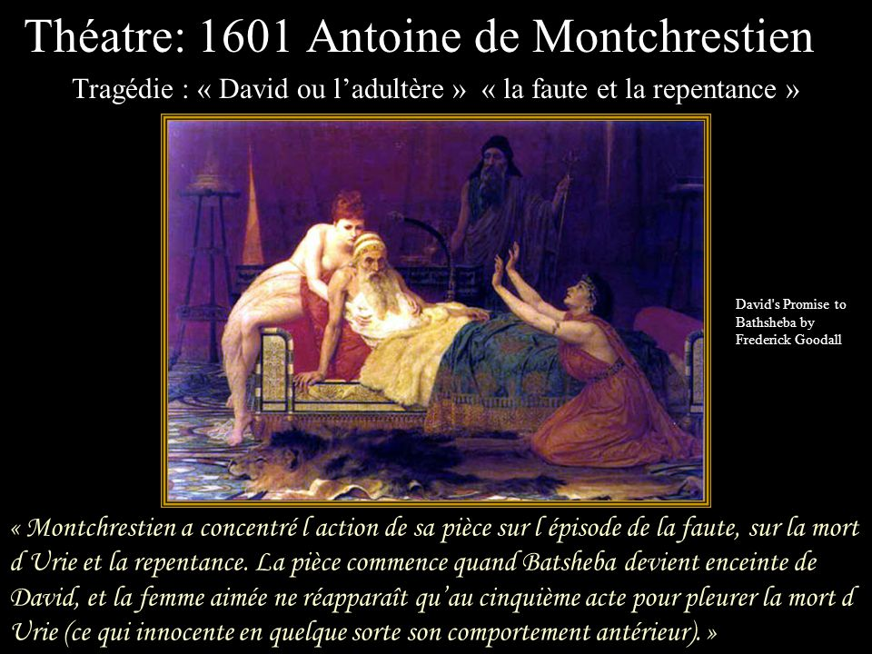 Théatre: 1601 Antoine de Montchrestien