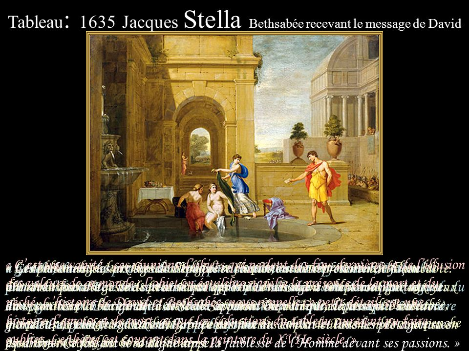 Tableau: 1635 Jacques Stella Bethsabée recevant le message de David
