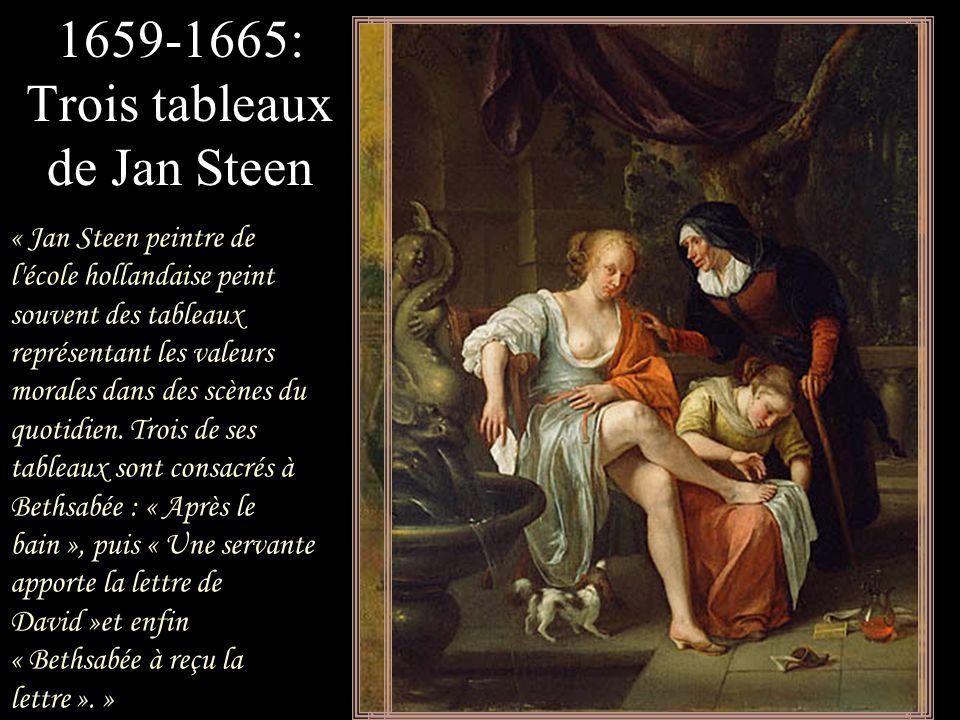 1659-1665: Trois tableaux de Jan Steen