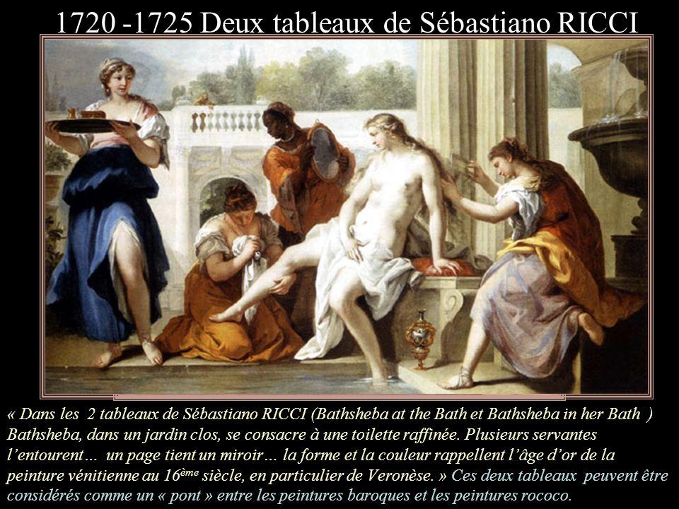 1720 -1725 Deux tableaux de Sébastiano RICCI