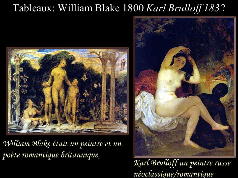 William Blake était un peintre et un poète romantique britannique,