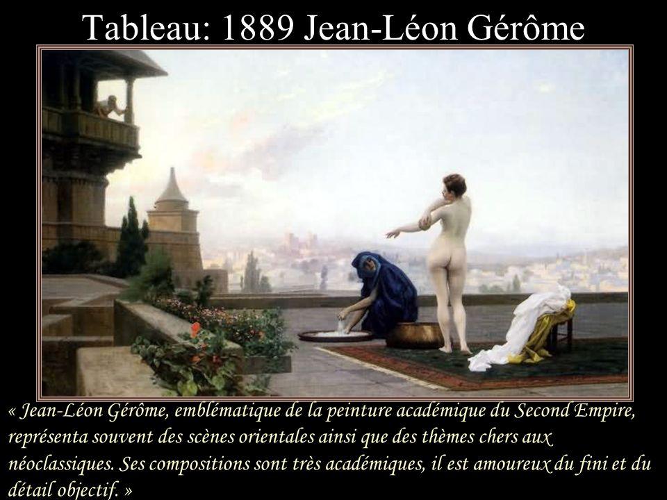 Tableau: 1889 Jean-Léon Gérôme