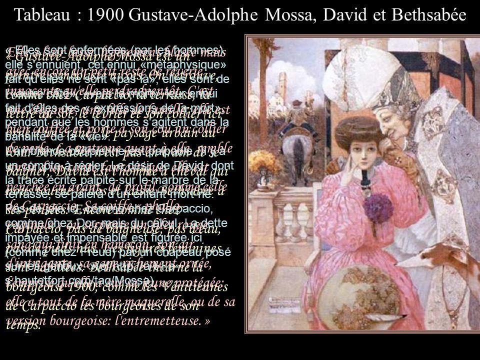Tableau : 1900 Gustave-Adolphe Mossa, David et Bethsabée