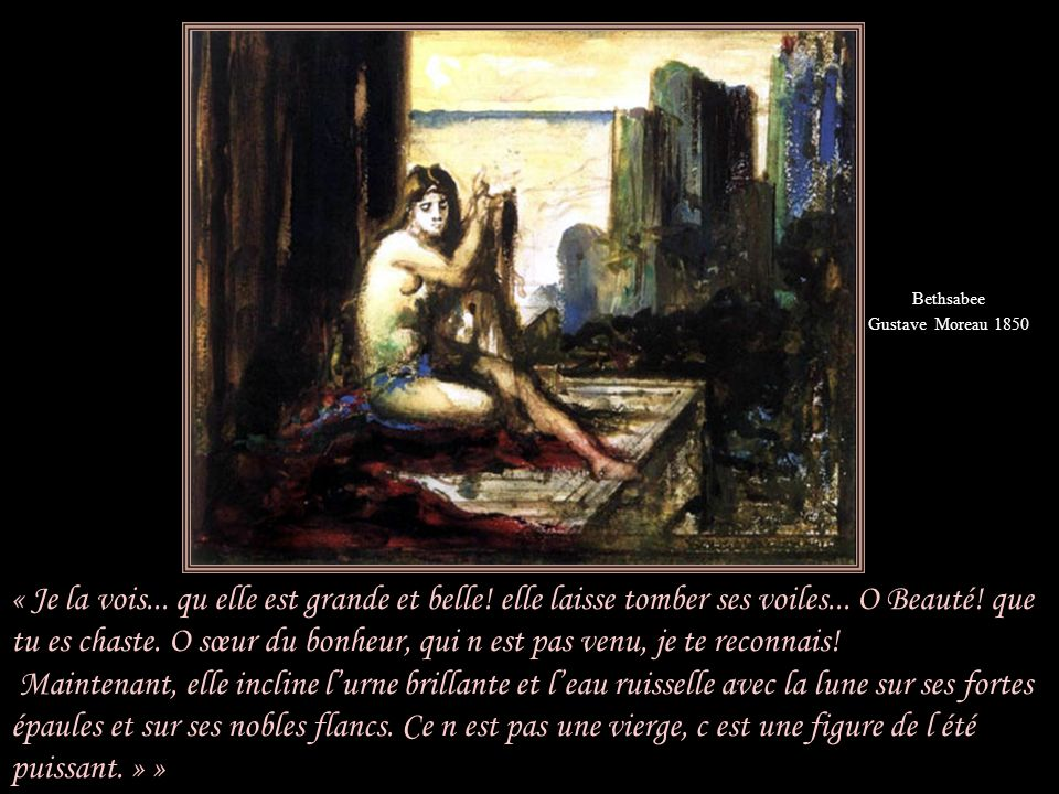 Bethsabee Gustave Moreau 1850