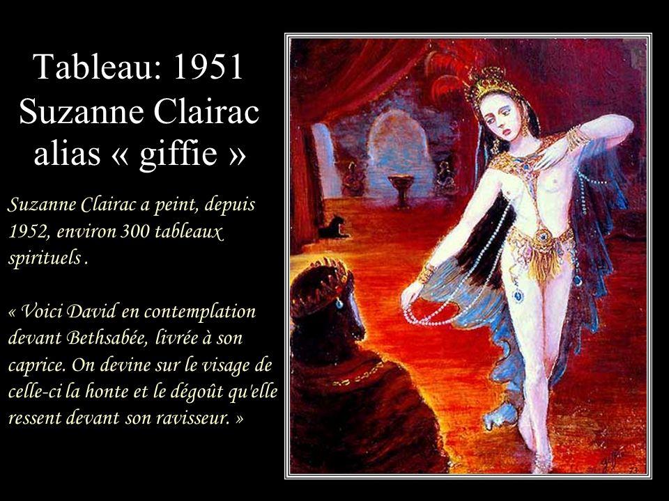 Tableau: 1951 Suzanne Clairac alias « giffie »