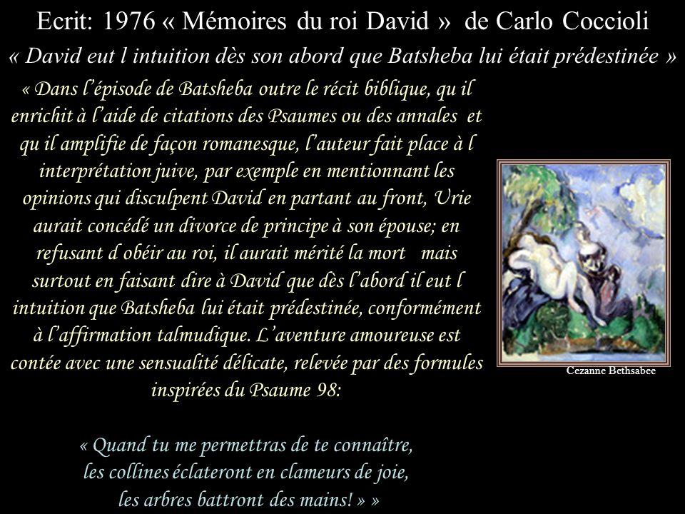 Ecrit: 1976 « Mémoires du roi David » de Carlo Coccioli
