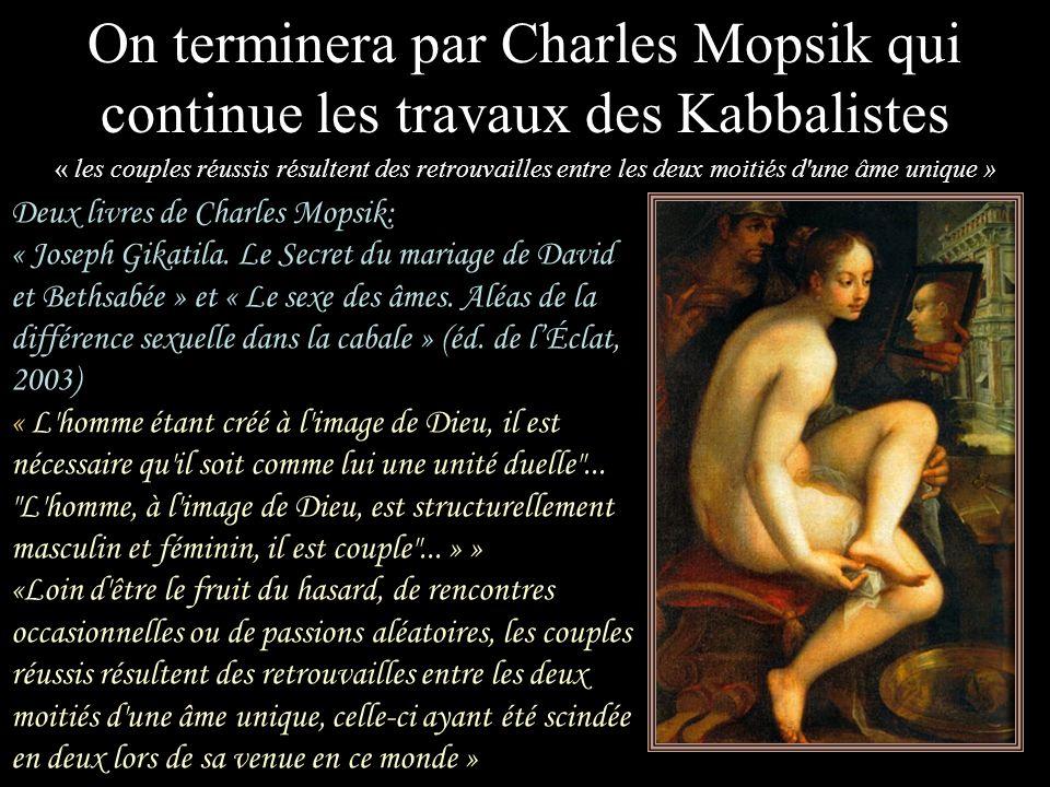 On terminera par Charles Mopsik qui continue les travaux des Kabbalistes
