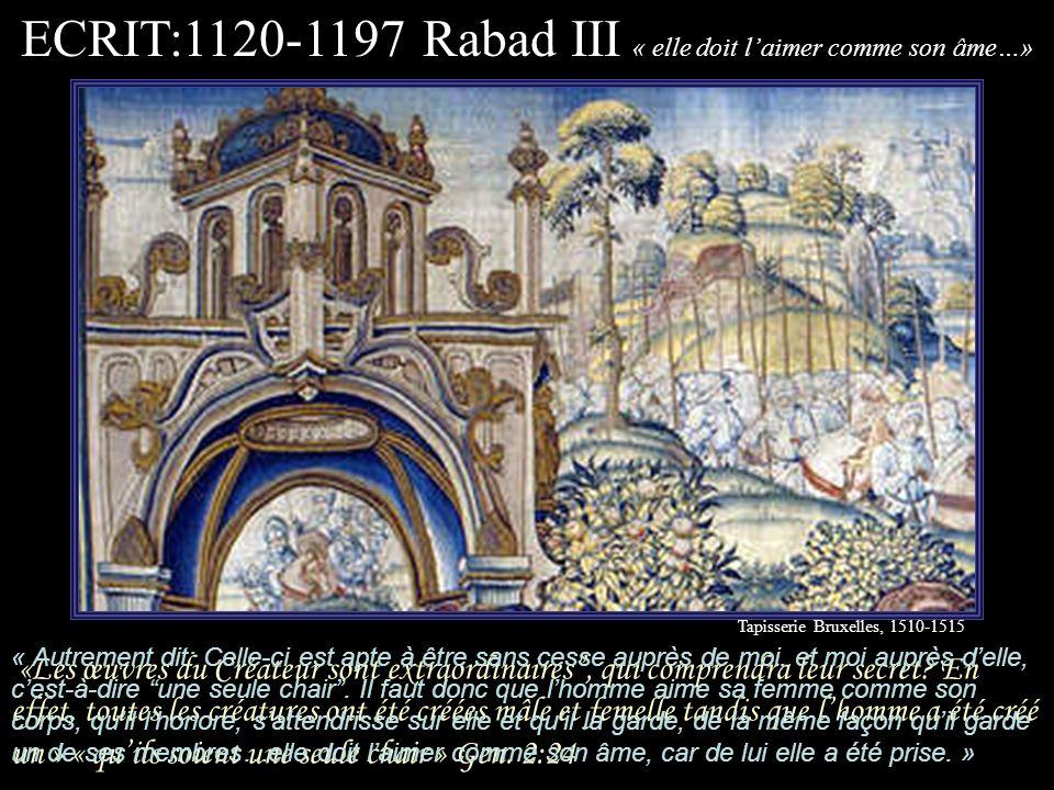 ECRIT:1120-1197 Rabad III « elle doit l'aimer comme son âme…»
