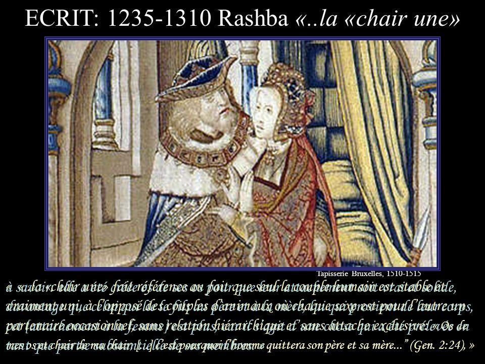 ECRIT: 1235-1310 Rashba «..la «chair une»