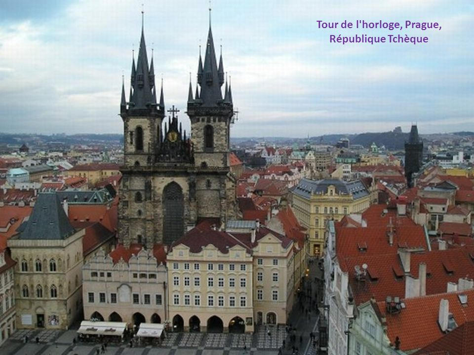 Tour de l horloge, Prague,