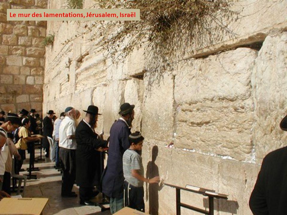 Le mur des lamentations, Jérusalem, Israël