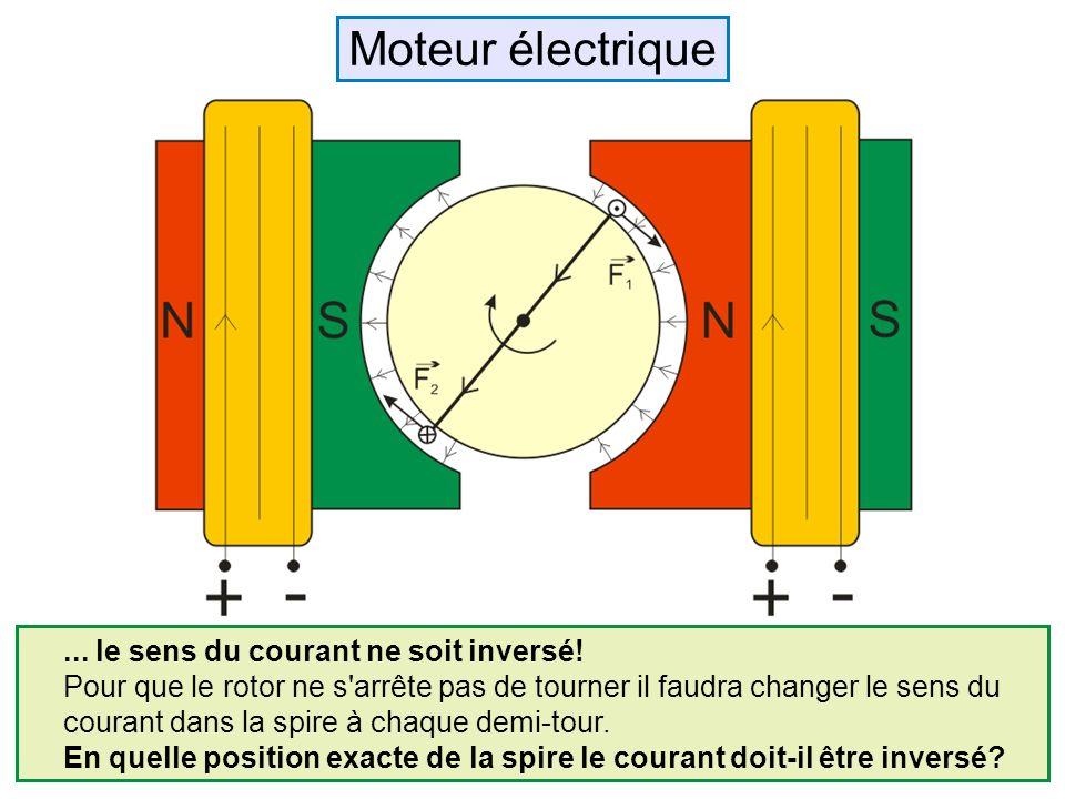 Moteur électrique ... le sens du courant ne soit inversé!