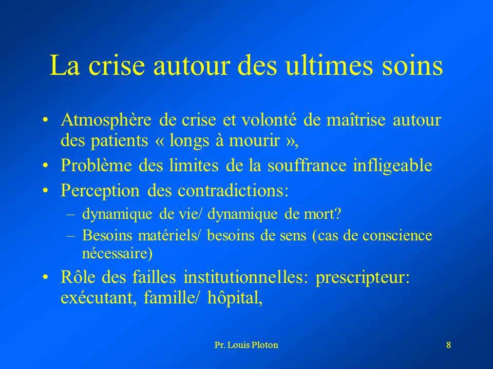 La crise autour des ultimes soins