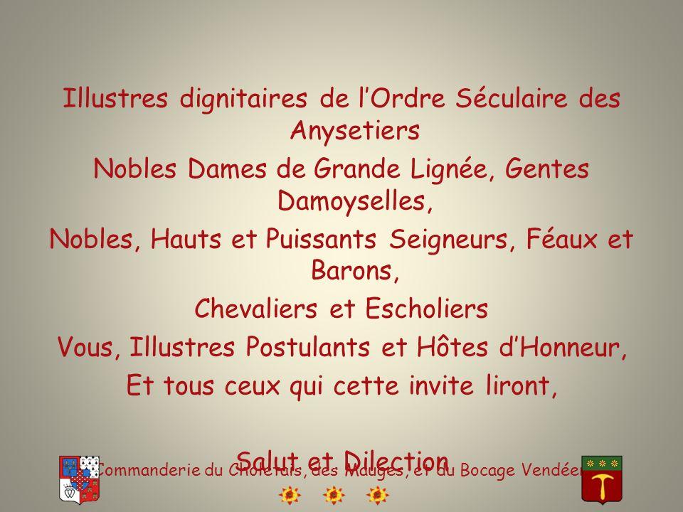 Commanderie du Choletais, des Mauges, et du Bocage Vendéen