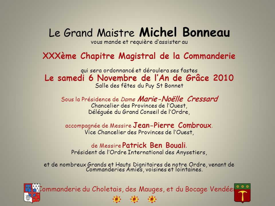 Le Grand Maistre Michel Bonneau