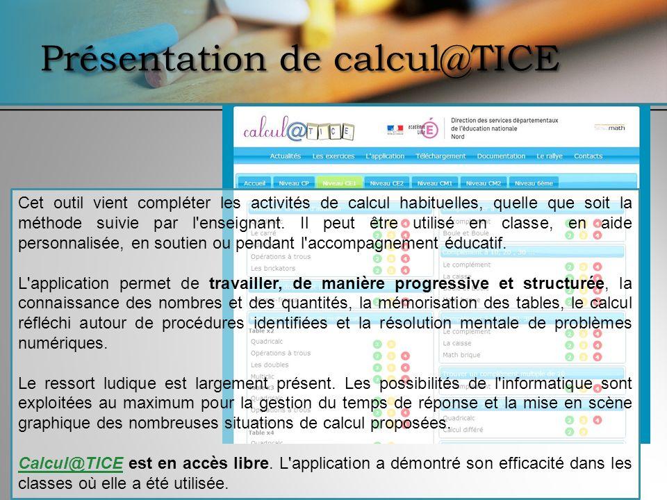 Présentation de calcul@TICE