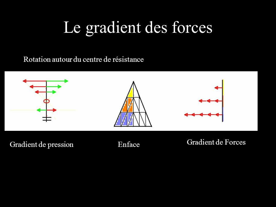 Le gradient des forces Rotation autour du centre de résistance