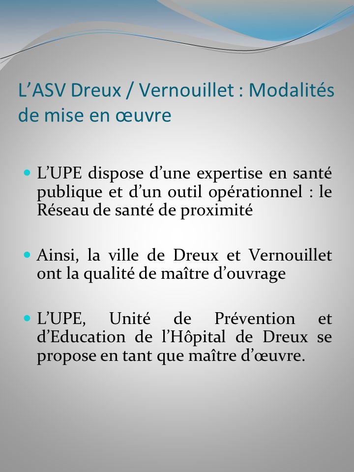 L'ASV Dreux / Vernouillet : Modalités de mise en œuvre