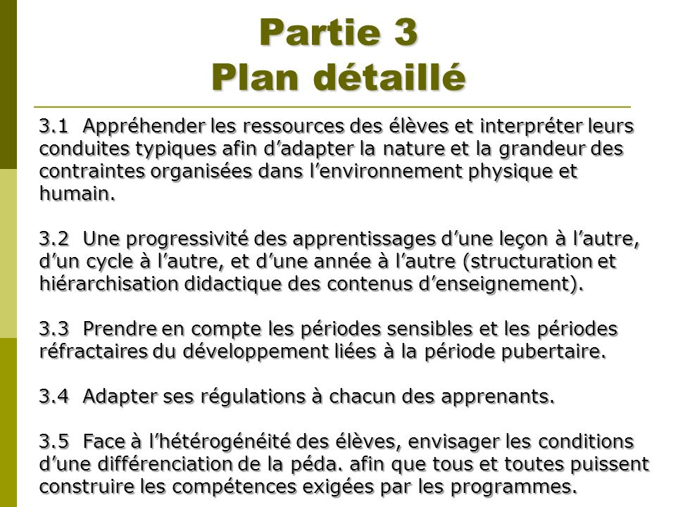Partie 3 Plan détaillé