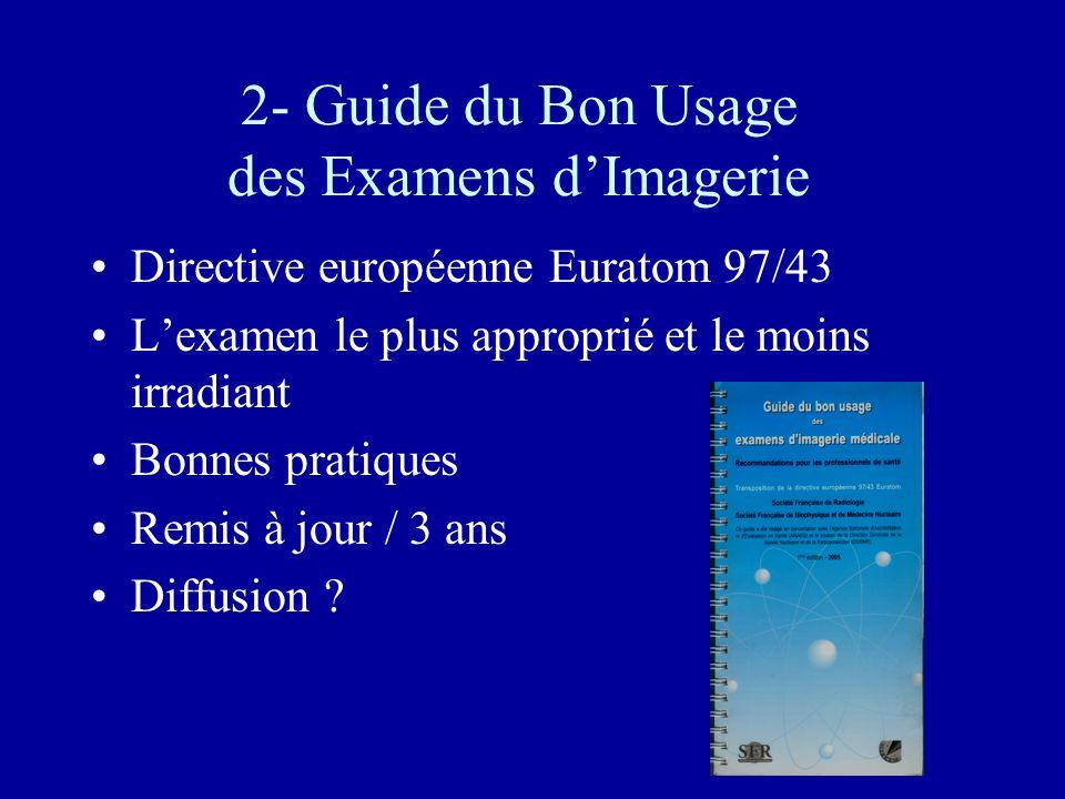 2- Guide du Bon Usage des Examens d'Imagerie